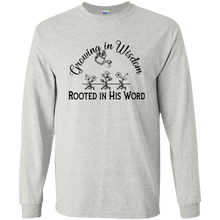 grow wisdom Gildan Youth LS T-Shirt