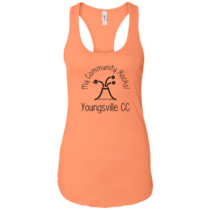 community rocks Ladies Racerback Tank