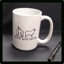 dove and lamb  White Mug