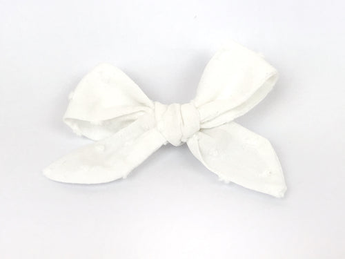 Ecru Florence Bow Clip