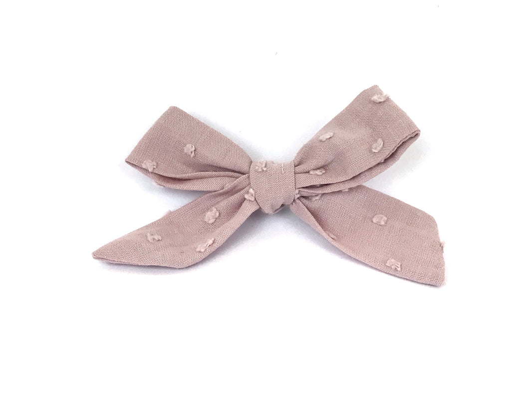 Dusty Rose Florence Bow Clip
