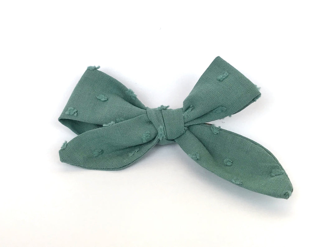Dusty Mint Florence Bow Clip