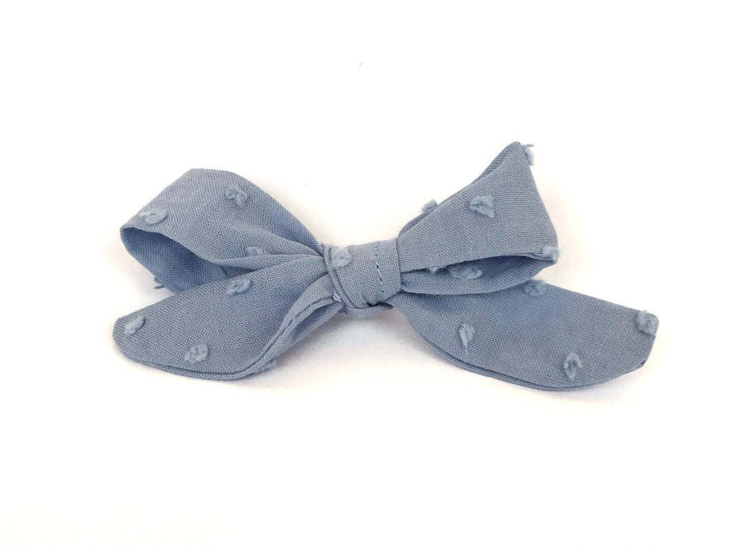 Dusty Blue Florence Bow Clip