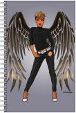 Black Angel Notebook