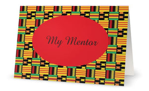 Mentor Card Blank Note