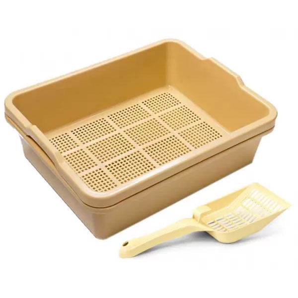 2 Piece Standard Sieve Tray Set Plus Extra Base Plus Scoop