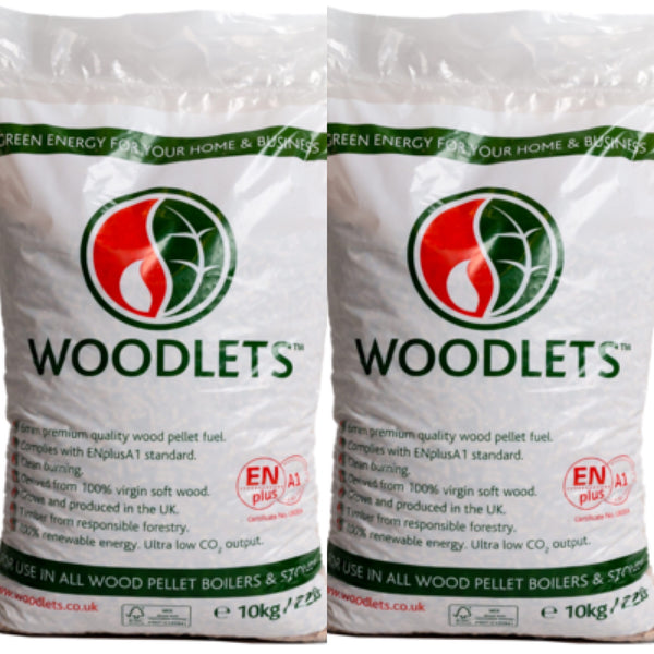 2 bags x 10 kilo ( 20 kilos ) Wood Pellets (DELIVERED SEPARATELY BY DHL)