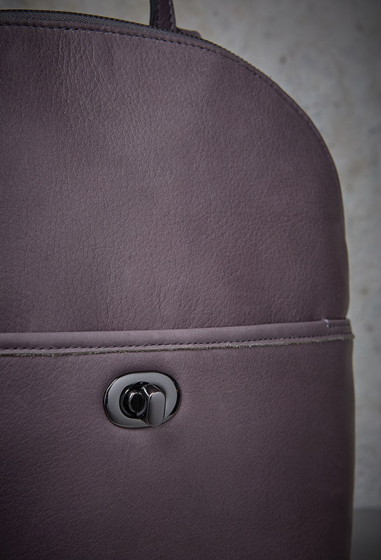 Margot New Work-Mother;s Day Sale. Close-up of Camille Turnlock Backpack.
