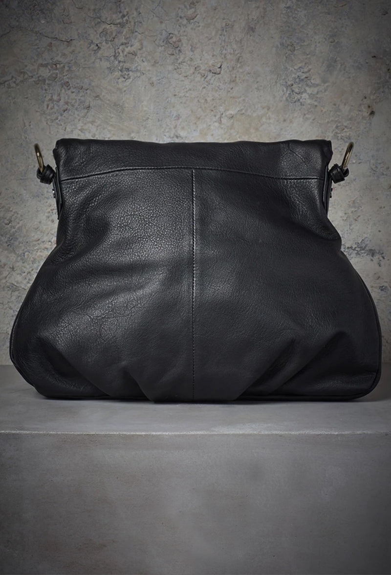 Adelle Versatile Moto Hobo in Black