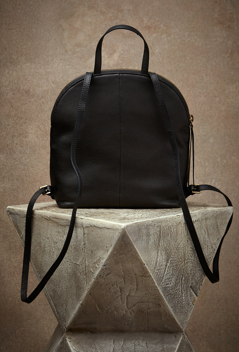 Camille Turnlock Backpack in Black