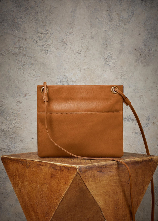 Kari Mini Square Crossbody in Rust