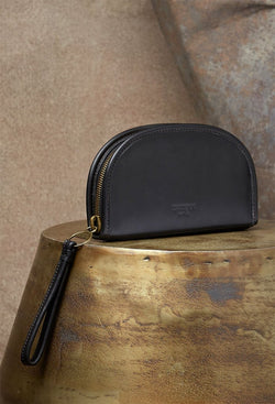 Luna Wallet in rich black genuine leather