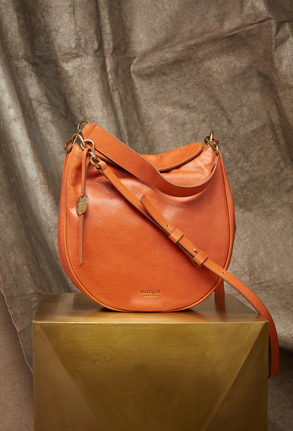 Jace Versatile Hobo in Burnt Orange