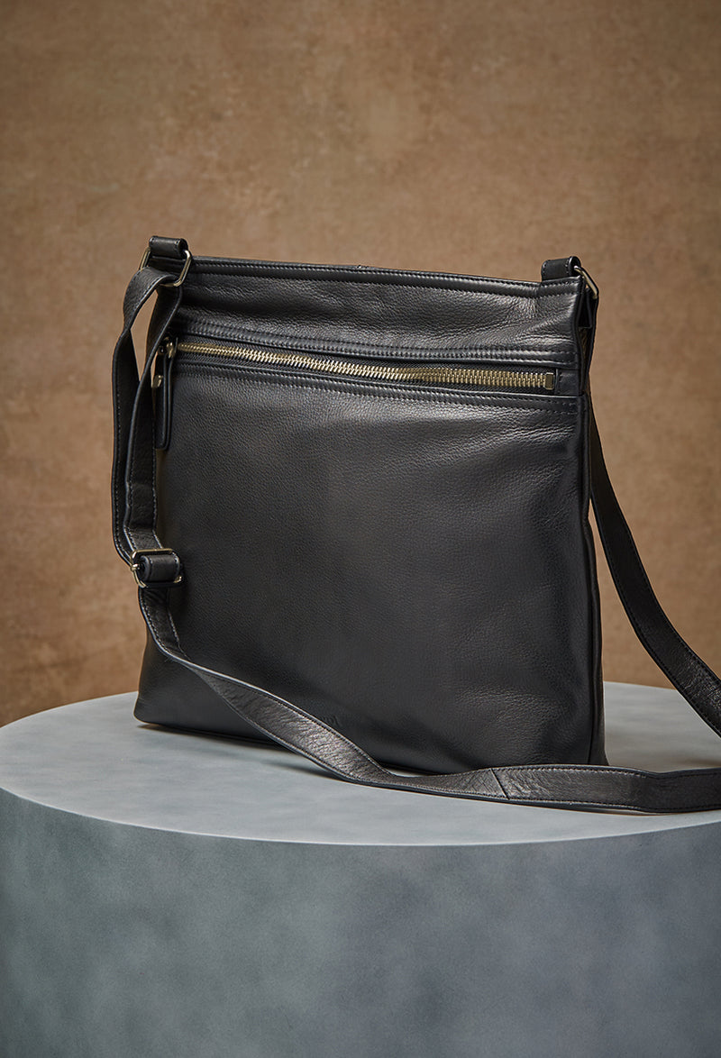 Lorna Hobo in Black and Old English Brass