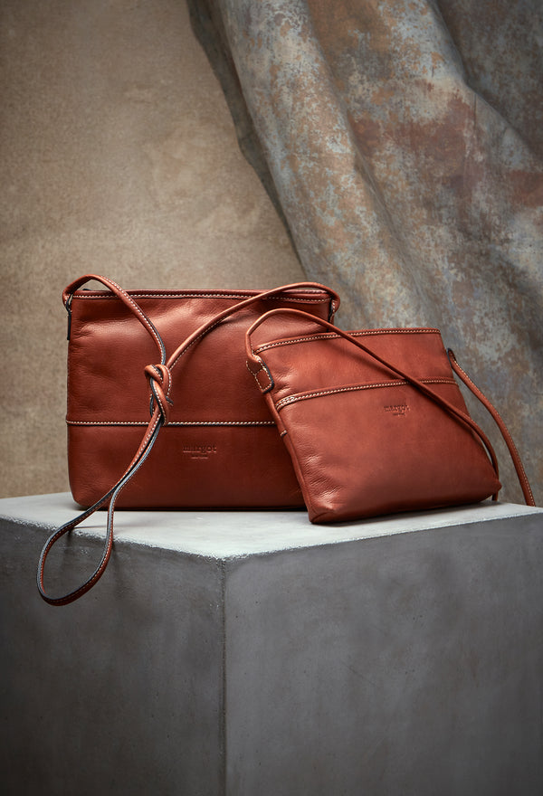 Derby Crossbody in Antique Brandy