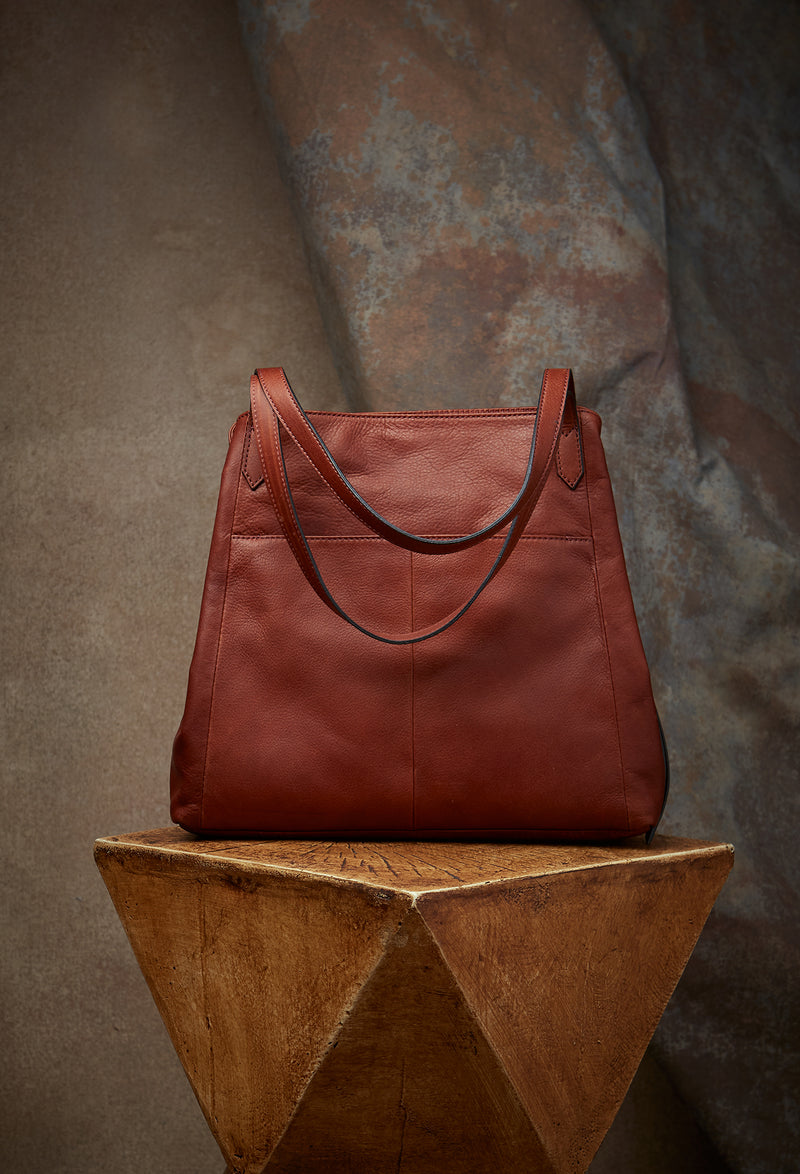 Marcy Tote in Brandy