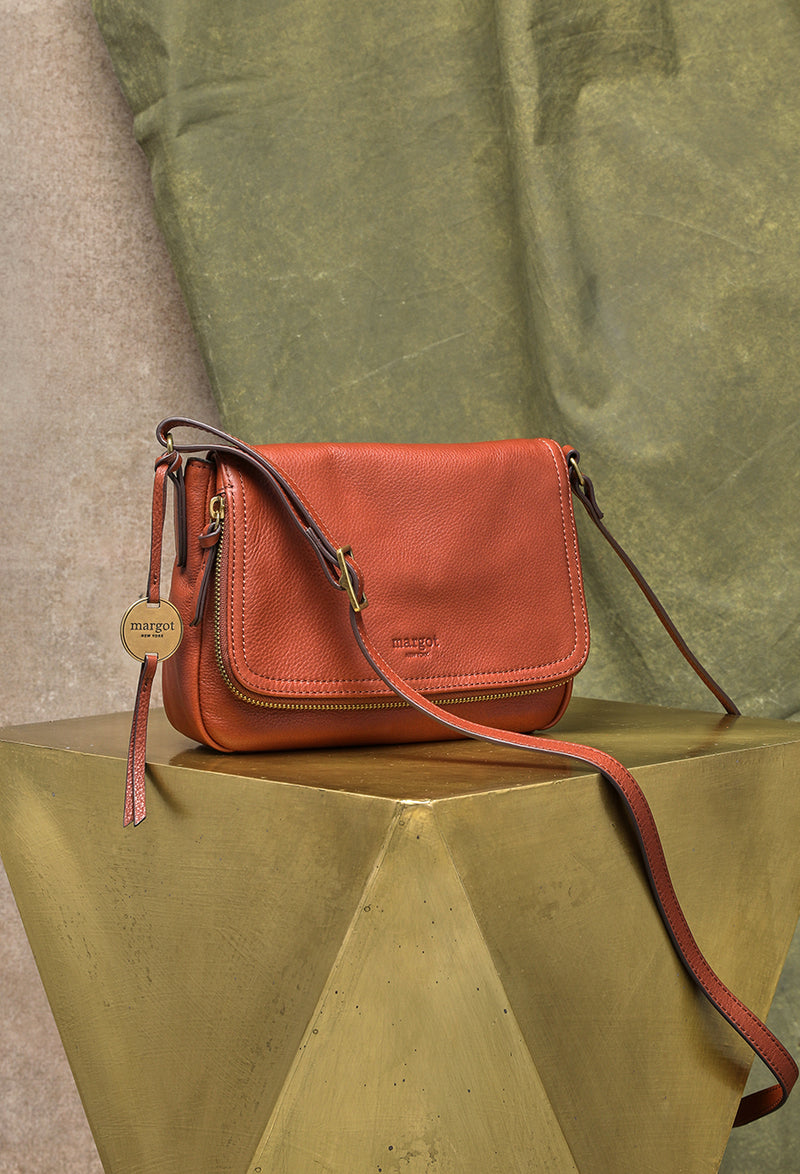 Preston Crossbody in Brandy