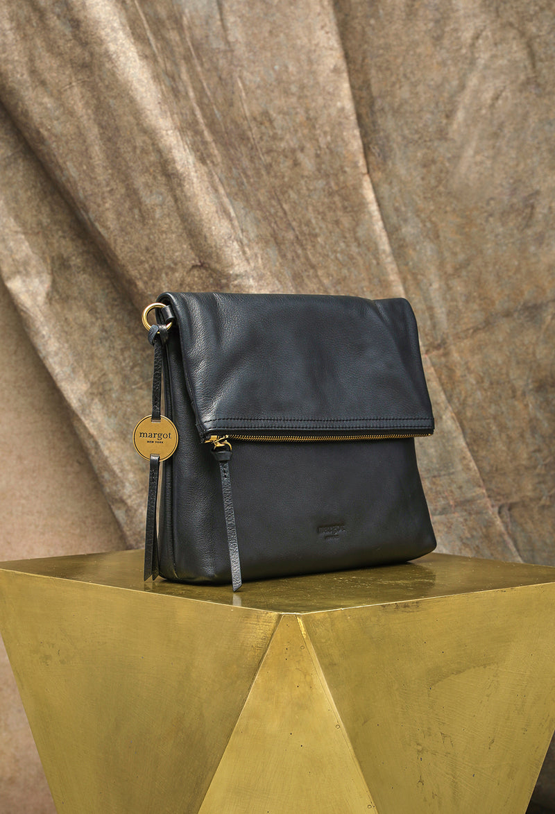 Robbie Fold Over Versatile in Black