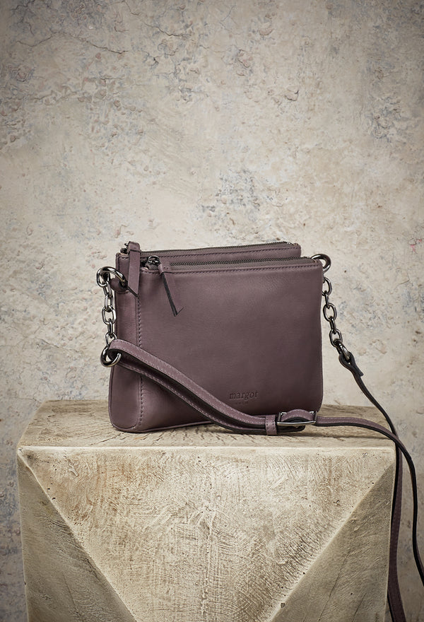 Jules with Chain Crossbody in Grey
