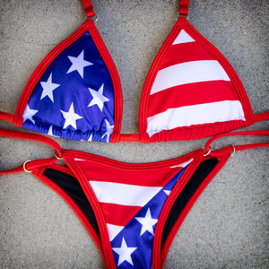 Stars and Stripes Posing Suit | Scrunch Butt Bikini | NPC/IFBB Practice Suit