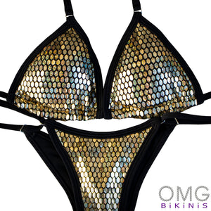 Golden Foil Posing Suit