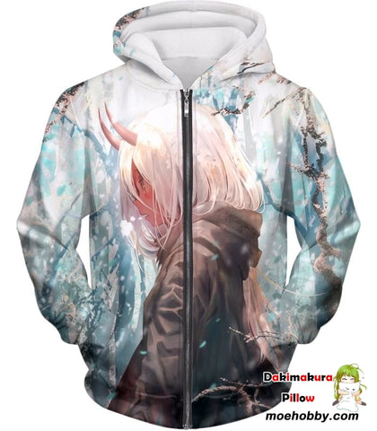 Image of Darling In The Franxx Poor Zero Two Zip Up Hoodie / Xxs