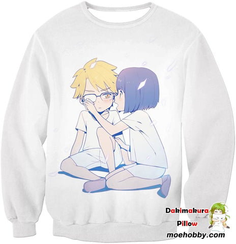 Image of Darling In The Franxx Childhood Sweethearts Goro And Ichigo Sweatshirt / Xxs