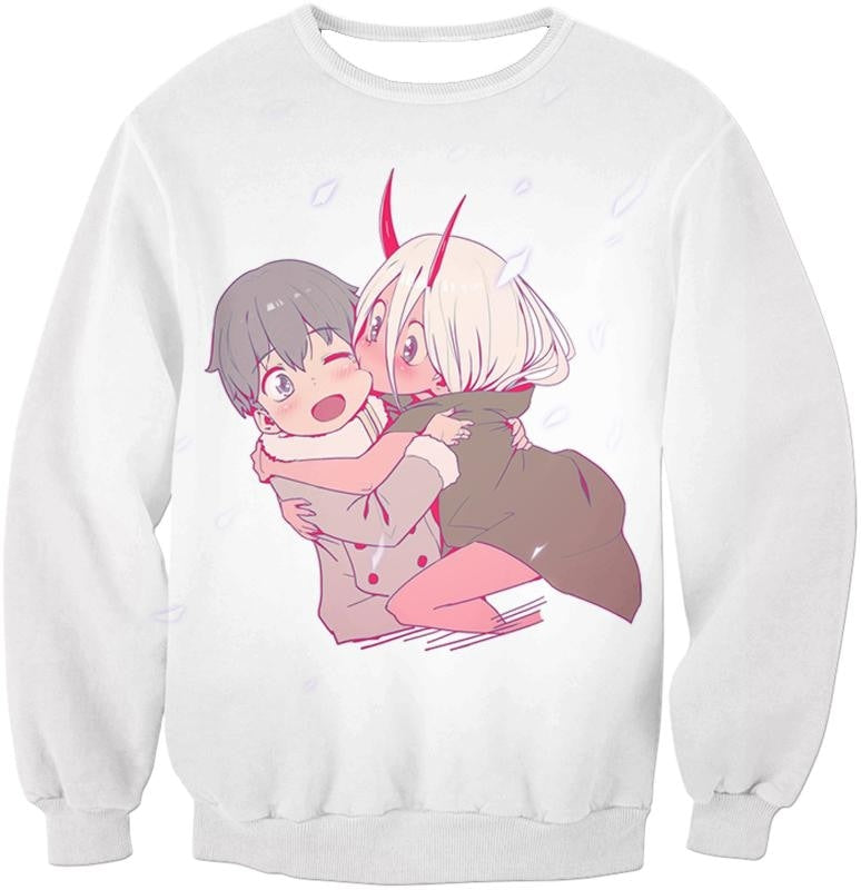 Darling In The Franxx Cute Hiro And Zero Two Tank Top Sweatshirt / Xxs