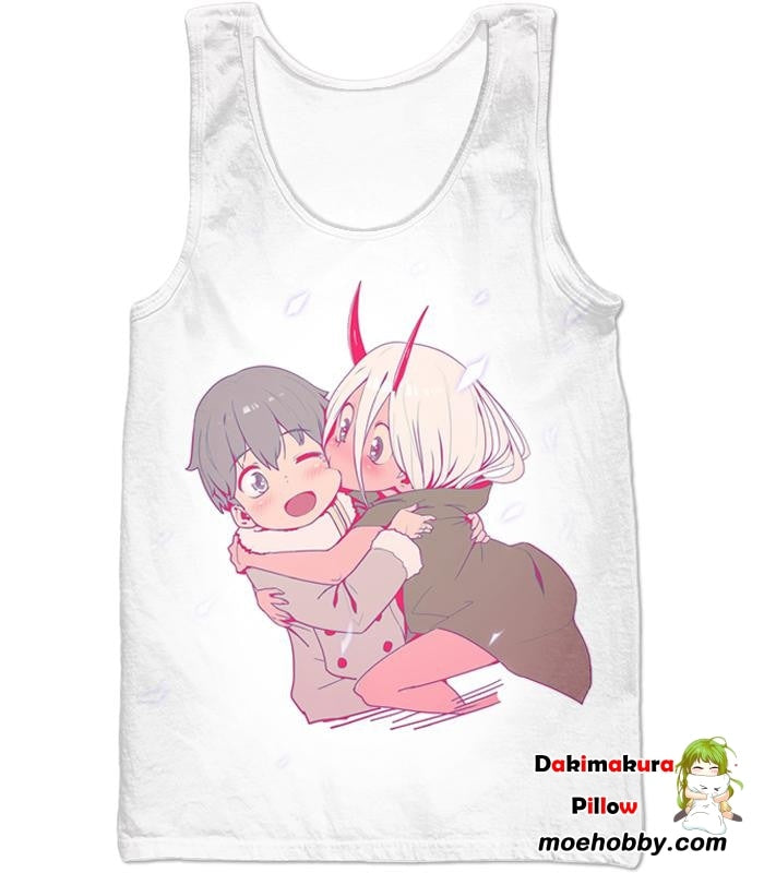 Darling In The Franxx Cute Hiro And Zero Two Tank Top / Xxs