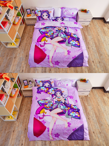 Image of Supersonico Sonico Anime Bed Sheets