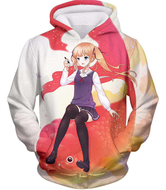 Saekano: How To Raise A Boring Girlfriend Working Eriri Zip Up Hoodie / Xxs