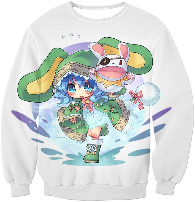 Date A Live Cute Yoshino Zip Up Hoodie Sweatshirt / Xxs