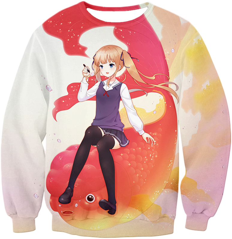 Saekano: How To Raise A Boring Girlfriend Working Eriri Zip Up Hoodie Sweatshirt / Xxs