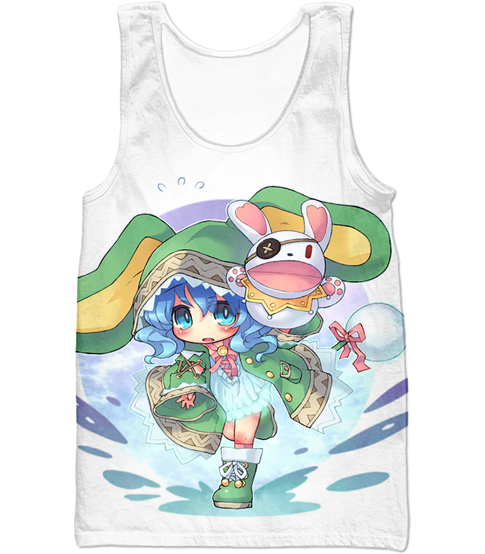 Date A Live Cute Yoshino Zip Up Hoodie Tank Top / Xxs