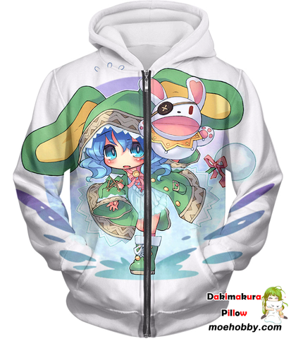 Image of Date A Live Cute Yoshino Zip Up Hoodie / Xxs