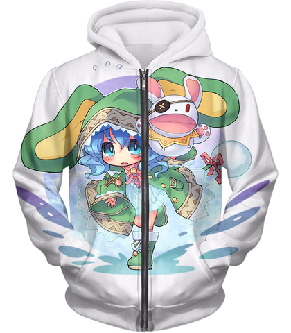Image of Date A Live Cute Yoshino Tank Top Zip Up Hoodie / Xxs