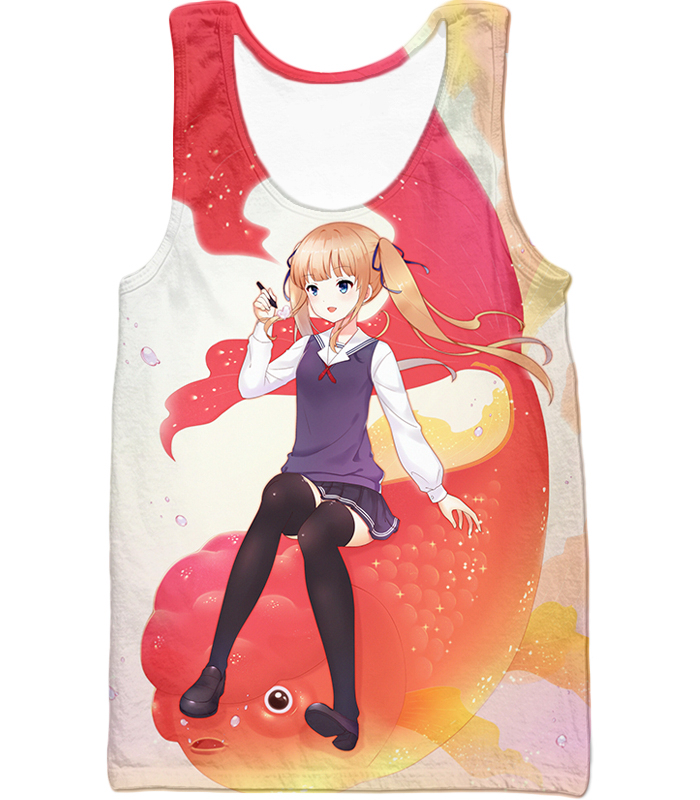 Saekano: How To Raise A Boring Girlfriend Working Eriri Zip Up Hoodie Tank Top / Xxs