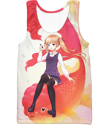 Image of Saekano: How To Raise A Boring Girlfriend Working Eriri Zip Up Hoodie Tank Top / Xxs