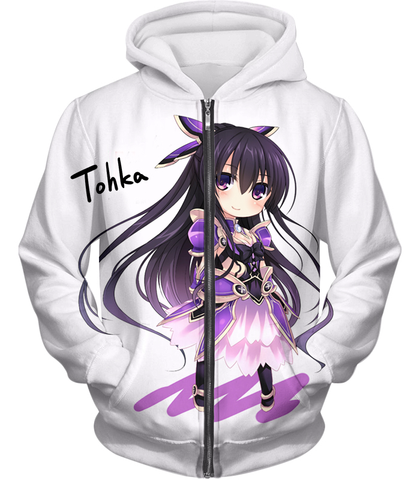 Image of Date A Live Cute Yatogami Tohka Hoodie Zip Up / Xxs