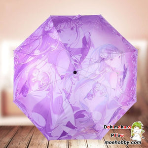 Re:zero Starting Life In Another World Emilia Foldable Anime Umbrella