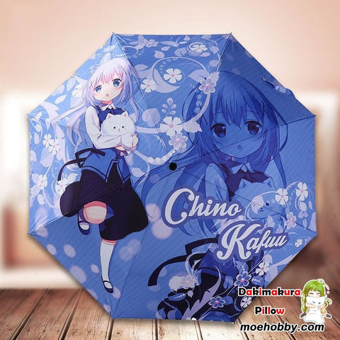 Is The Order A Rabbit Kafuu Chino Foldable Anime Umbrella