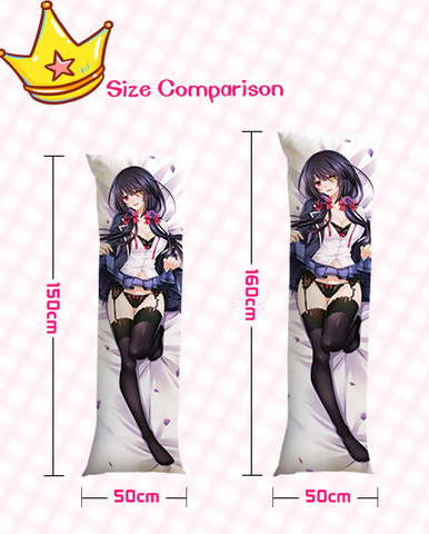 Hyperdimension Neptunia Black Heart + Noire Anime Dakimakura Body Pillow Cover