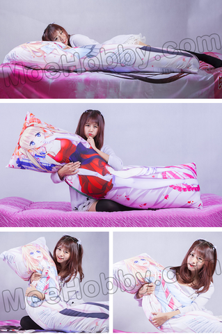 Image of Hyperdimension Neptunia Blanc + White Heart Anime Dakimakura Body Pillow Cover