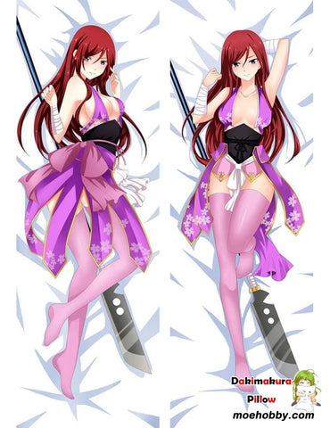 Fairy Tail Erza Scarlet Anime Dakimakura Pillow Cover