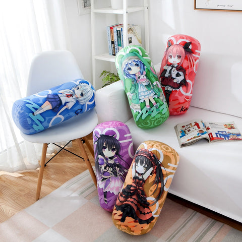 Image of Date A Live Yatogami Tohka Anime Round Roll Bolster Dakimakura Candy Pillow