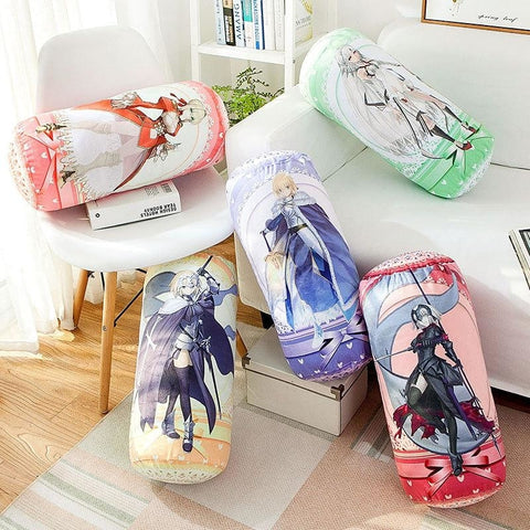 Fate/grand Order Joan Of Arc Anime Round Roll Bolster Dakimakura Candy Pillow