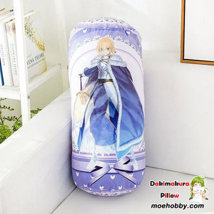 Fate/stay Night Arturia Pendragon Anime Round Roll Bolster Dakimakura Candy Pillow
