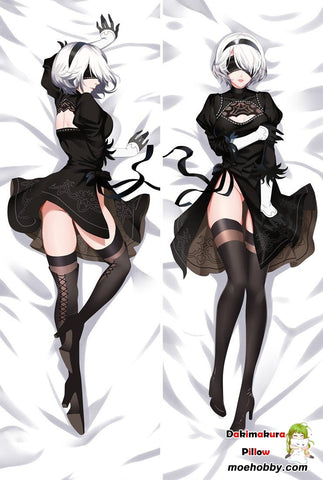 Game Nier:automata Yorha 2B Dakimakura Bed Hug Body Pillow Case Cover