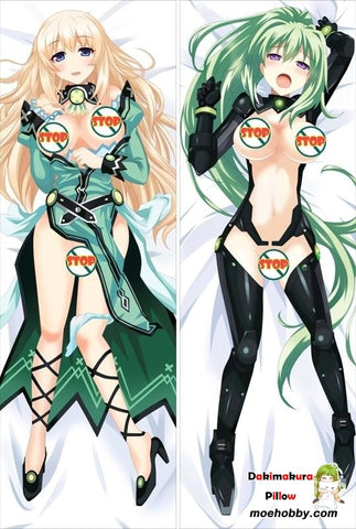 Image of Hyperdimension Neptunia Vert Anime Dakimakura Body Pillow Cover
