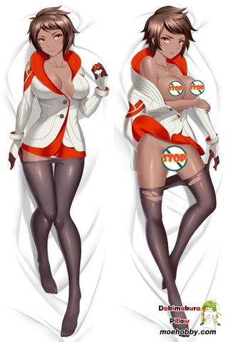 Pokemon Go Team Leader Valor Anime Dakimakura Japanese Pillow Cover